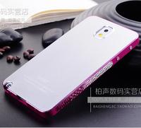 For Samsung Galaxy note 3 n9000 Metal shell Dropshipping  Bling Crystal rhinestones Cover swarovski diamond Lvqiao