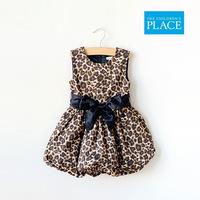 New Spring Girls Kids Female Leopard Dress Children's Clothing Princess Ball Gown Dress tutu Dress Skirt Free Shipping