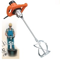Hand Held Electric Cement Mixer 1350w for Concretes Grouts, concrete, Paint Mixing Machine DIY