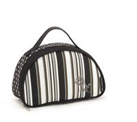 Beautiful exquisite embroidery rose fashion polka dot semicircle stripe storage bag brand cosmetic bag makeup bag