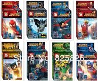 Have original box! Super Heroes  Avengers Iron Man Hulk Batman Wolverine Thor Building Blocks Sets Minifigure DIY Toys 16pcs/lot