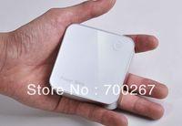 7200mAh White Aluminum Dual USB 5V 1A 1.5A Power Bank Portable Power Supply free shipping