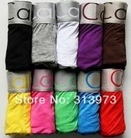 8Pcs 2014 Fashion High Quality Men's Sexy Undies Underwear To Wear Boxers Shorts Calvin 11 Colors Size ML XL XXL Free Shipping
