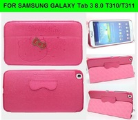 For Samsung Galaxy Tab 3 8.0 case,T310 T311 hello kitty bowknot case high quality stand smart cover