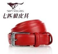 Seven wolves genuine Cowhide leather belt  Men's casual belt buckle men's belt wide belt genuine