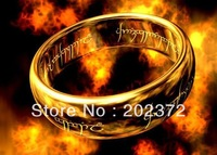 Wholesale - Men's the Lord of the Ring,pure tungsten steel gold plated rings,power finger Ring