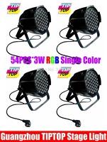 Cheap Price 4Pcs/lot PAR Led 64Light 54*3W LED PAR Cans,8DMX Channels DMX 512 Hi-Quality Good Cooling Effect LED Stage Lights