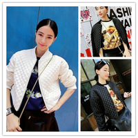 fashion women clothes 2014 winter coat women plaid cotton pressure casual  wadded jacket outerwear ladies blouses