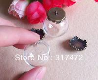 HOT!! 25*15mm Globle Glass Vial Pendant&Charm Base Blank  DIY Jewelry Pendant