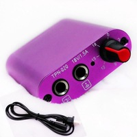 2014 New Professional Aluminum Alloy Mini Tattoo Power Supply with Cords PURPLE