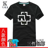 Rammstein T-shirt band short-sleeve shirt female Men t shirt t-shirt
