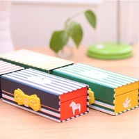 2014 Multi-purpose Password pencil case pen box pencil box  line design 19cm*6*8.5cm Free shipping