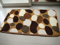 New arrival water wash pebbles carpet bed rug mats doormat