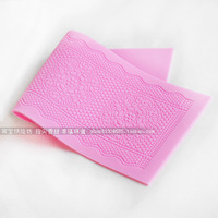 Free Shipping - Sugar lace flower silicone pad sugar cake lace mould sugar lace mould big round flower