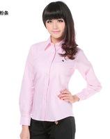 2014 new women's shirts, long sleeve cotton, fashion style shirt women slim shirt formal multiple colors