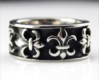 MT brand Thai silver style ring, crome heart Restoring titanium steel ring for men