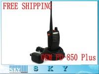 2pcs Walkie Talkie UHF 10W 3500mAh Rain Proof Portable Two-Way Radio FD-850PLUS with Two Antennas A1025A