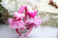 Fahion New Kids/Girl/Princess Multicolor Gauze Stereo Bear hairbands/children hair accessories/ headband free shipping