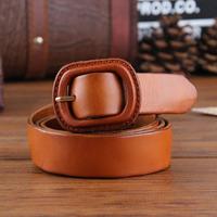 Anti-allergic Buckles 100% Genuine Leather New 2014 Fashion Unisex Belt  Man Strap Female Cintos Woman Blets 5Colors WBT0034