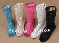 Free shipping/ Europe and the United States summer hollow out fish mouth cool boots to Rome