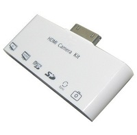 6 in 1 Card reader HDMI Dock Adapter AV USB Cable Camera Connection Kit for Apple iPad 3 iPad 2   Free shipping