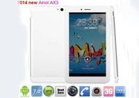 7 inch Ainol AX3 3G call phone GPS Android 4.2 Tablet PC MTK8382 Quad Core 1GB+16GB Dual 5.0MP Camera FM 1024*600pix  5pcs/lots