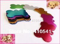 38mm*25mm*1.0mm 200 pcs/lot Mix Colors Aluminum Alloy  Dog Bone Shape Pendant Colorful Pet tags Pet ID Tags Free Shipping