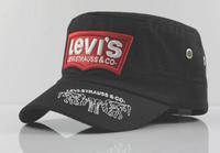 Ms 2014 punk flat hat outdoor sports male letter cap unginned cotton qualitative adjustable black embroidery service cap