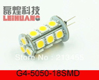 100pcs 18 Smd G4 Led Marine Car Bulb Lamp 12v Pure White Light