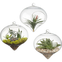 New 2014 Fashion Flower vase Clear glass hanging vase Christmas hanging decoration  Vases for wedding Hot selling Free shipping
