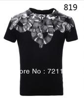 2014 Marcelo Burlon Men Women T-Shirt Tee Short Sleeve Unisex Shirt Wing Logo With Brand Tag Label 100% Cotton Casual Tee