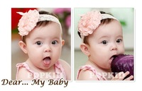 Sweet cute Big chiffon flowers Baby Girls Lace Headband Hairband girl hair accessory