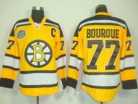 Wholesale Men's Boston Bruins Jersey #77 Ray Bourque Ice Hockey jerseys 2013 Winter Classic Jersey Yellow Bruins Jersey