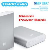 5pcs Original 10400mAh xiaomi Power bank Real capacity XIAOMI power bank Portable XIAOMI power bank for iphone samsung s4 ipad