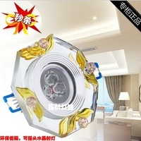 Free shipping,rotatable high power 3W led crystal lighting -eye lights background light spotlight, lamp for home.