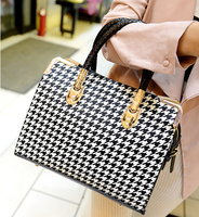 new 2014 sping lady casual business fashion handbag one shoulder cross-body women handbag bags black and white