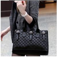 new 2014 fashion checkerboard palid strap portable women handbag decoration lady shoulder bag