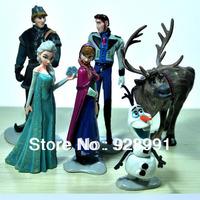 new 2014 anime frozen princess elsa anna olaf pvc action figures model kids classic toys set dolls gifts for boys girls children