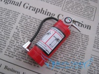 Free Shipping $12(mix order) Novelty gadget fire extinguisher Cigarette Lighter Butance Gas Lighter Flame With LED light