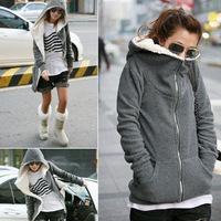 2015 Fashion Zip Up Tops Women's Hoodie Coat Jacket Outerwear Sweatshirt Long Pullover Drop Shipping