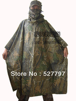 Realtree Raincoat poncho Ghillie Waterproof Tent Mat for Hunting Cycling Camping Hiking Camouflage