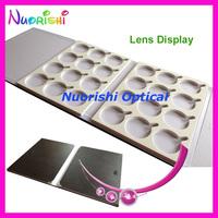 free shipping  D009-24  lens display case  lens sample box  holding  24 pcs of lenses display tray