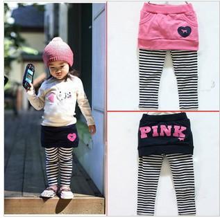 5pcs/lot free shipping baby girls leggings children's pants skirt ,PP pants,children's trousers girls skirt-pants(China (Mainland))
