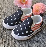 Boys Shoes 2014 New Spring Summer Brand Designer Children Canvas Shoe For Little Boy Star US Flag Kids Children's Sneakers