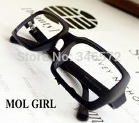 D3-4 vintage leopard print glasses non-mainstream plate rack eyes the box of big black plain glass lens  wholesale
