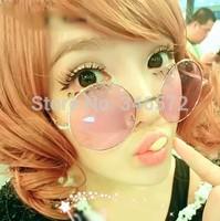 Prince's mirror multicolour HARAJUKU sunglasses lens circle vintage large sunglasses  free shipping