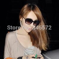 Fashion vintage big black sun glasses in the box star style anti-uv sunglasses  free shipping