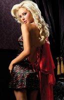 2014 New 3pcs/set Sexy satin sleep wear lingeries underwear Women night bathrobes Polka Dot robes chemise red black 68874