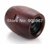 100pcs/lot Fashion sleek Wooden Portable Mini Speaker for Computer / Smartphone / Music Players