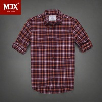 Free Shipping New Arrival 100% pure Cotton Young Male Long-Sleeve Casual Fashion Plaid Shirts for Men Hot Sale Drop shipping
